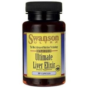 -70 % Swanson Ultimate Liver Elixir - detox - Ostropest Koniczyna Glutation, green tea - do marzec