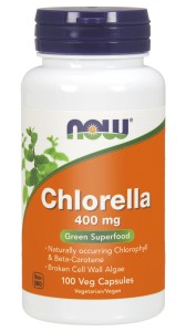 NOW Foods Chlorella 400 mg – 100 kaps