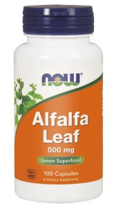 NOW Foods Alfalfa – Liść lucerny – 500 mg / 100 kaps