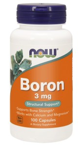 NOW Foods Boron 3 mg – 100 kaps bor