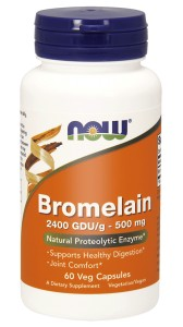 NOW Foods Bromelain 500 mg – 120 kaps Bromelaina