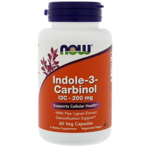 NOW Foods Indole-3-Carbinol z ekstraktu z kapusty – 60 kap Len