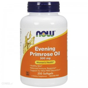 NOW Foods Evening Primrose oil – Olej z wiesiołka 500 mg – 250kaps