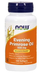 NOW Foods Evening Primrose oil – Olej z wiesiołka 500 mg – 100kaps