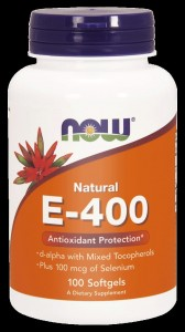 NOW Foods E-400 Natural Witamina E 400 + SELEN 100 softgels