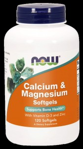 NOW Foods Cal-mag wapń magnez D3 cynk 120 softgels