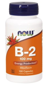 NOW Foods Witamina B-2 (Ryboflawina) 100 mg – 100 kaps