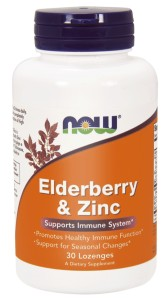 NOW Foods Elderberry  – Bez czarny i cynk 30 past