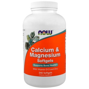 NOW Foods 240 - Calcium-magnesium  wapń magnez D3 cynk 240 softgels