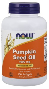 NOW Foods Pumpkin Seed Oil - Olej z pestek dyni 1.000mg 100 kaps