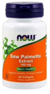 NOW Foods SAW PALMETTO Extract palma sabałowa 160mg 60 kapsułek