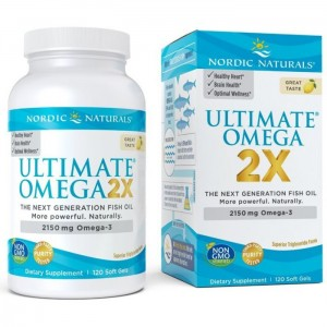 Nordic Naturals Ultimate Omega smak cytrynowy - 120kaps