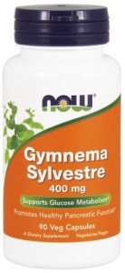 NOW Foods GYMNEMA SYLVESTRE 400 MG 90kaps