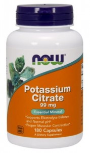 NOW Foods CYTRYNIAN POTASU 99MG - 180kaps